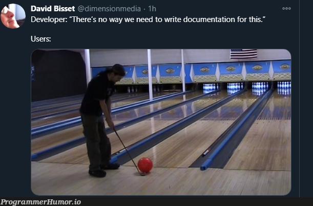 ya know, it doesn't need a user guide   developer-memes, IT-memes, ide-memes, documentation-memes   ProgrammerHumor.io
