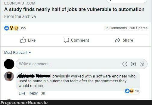 Haha hey, John. Why do you have a bash sciprt with my name on it? | programmer-memes, engineer-memes, program-memes, bash-memes, comment-memes | ProgrammerHumor.io