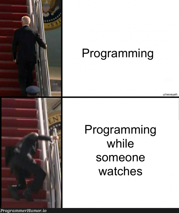 when someone watches me code   programming-memes, code-memes, program-memes   ProgrammerHumor.io