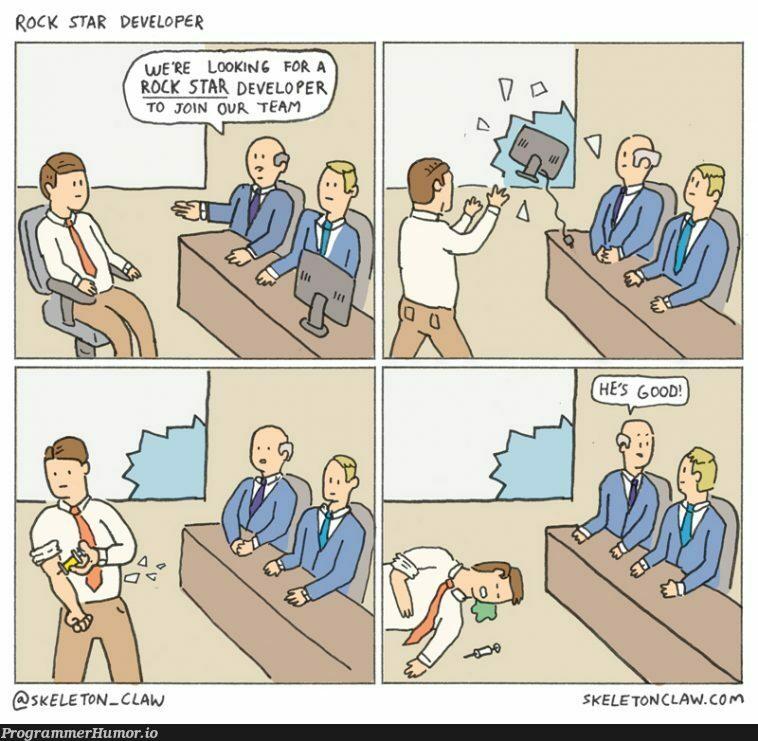 Rock Star Developer [comic] | developer-memes | ProgrammerHumor.io