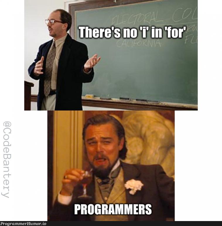 There's also a 'j' | ProgrammerHumor.io