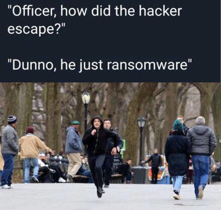Officer, how did the hacker escape?   hacker-memes   ProgrammerHumor.io