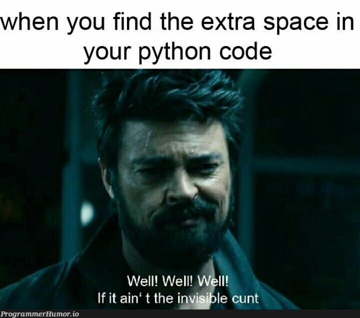 Python   code-memes, python-memes, IT-memes, space-memes   ProgrammerHumor.io