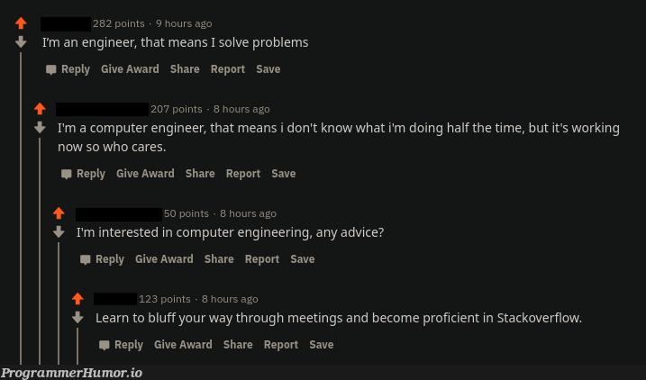 That felt a little bit too specific   computer-memes, engineer-memes, engineering-memes, stackoverflow-memes, stack-memes, rest-memes, overflow-memes   ProgrammerHumor.io