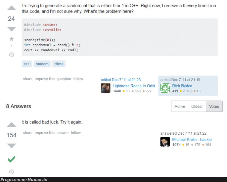 ah yes stackoverflow, short and concise   code-memes, hacker-memes, stackoverflow-memes, stack-memes, try-memes, c++-memes, random-memes, overflow-memes, IT-memes, cs-memes   ProgrammerHumor.io