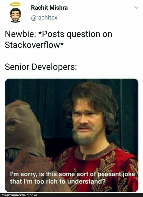 [Marked as Duplicate]   developer-memes, stackoverflow-memes, stack-memes, overflow-memes   ProgrammerHumor.io