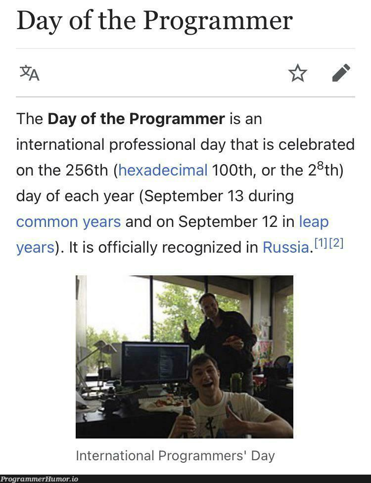Happy International Day Of The Programmer, fellow programmers. May the stackoverflow stay by your side   programmer-memes, stackoverflow-memes, stack-memes, program-memes, overflow-memes, IT-memes, ide-memes   ProgrammerHumor.io