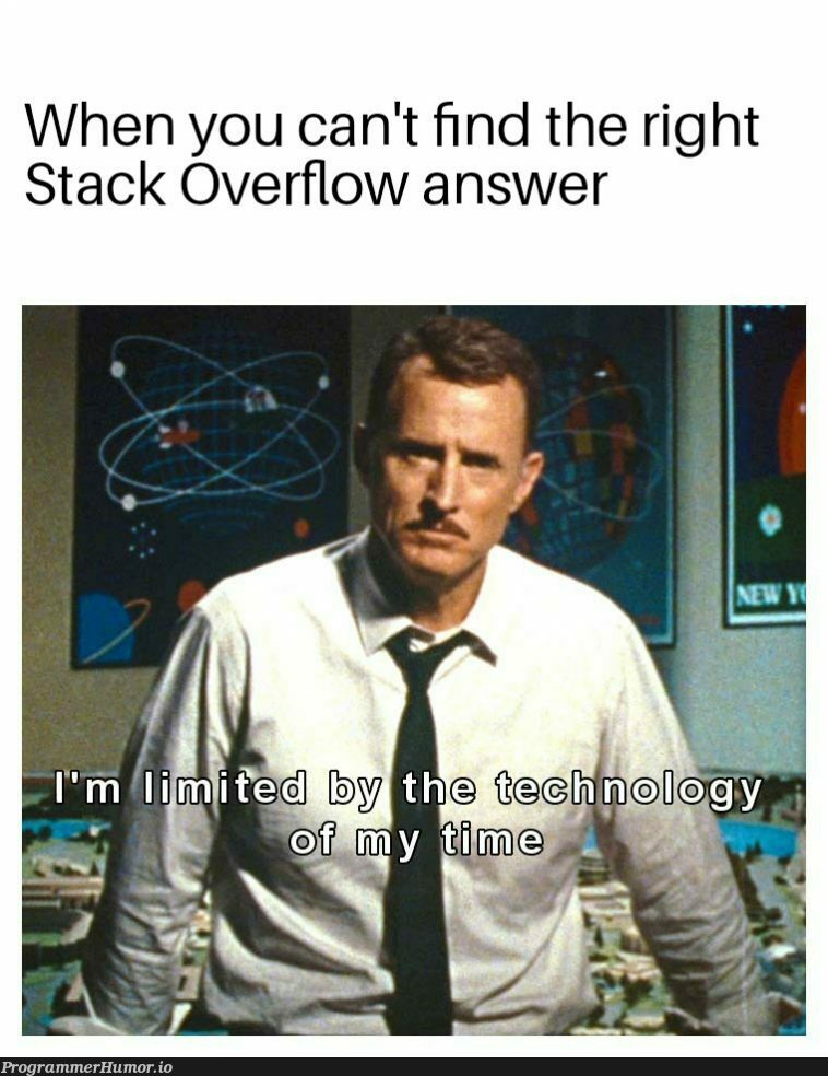 Imagine a world without SO | stack-memes, stack overflow-memes, overflow-memes | ProgrammerHumor.io