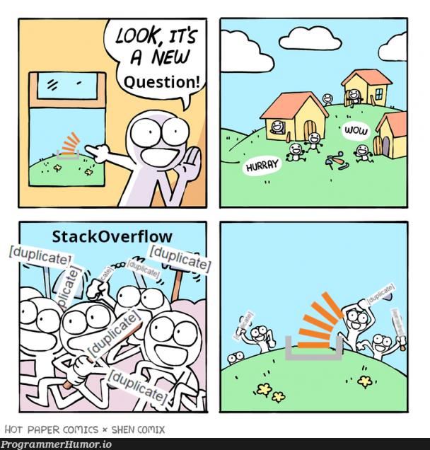 New template, new memes bashing on Stack   stackoverflow-memes, stack-memes, bash-memes, overflow-memes, cs-memes   ProgrammerHumor.io