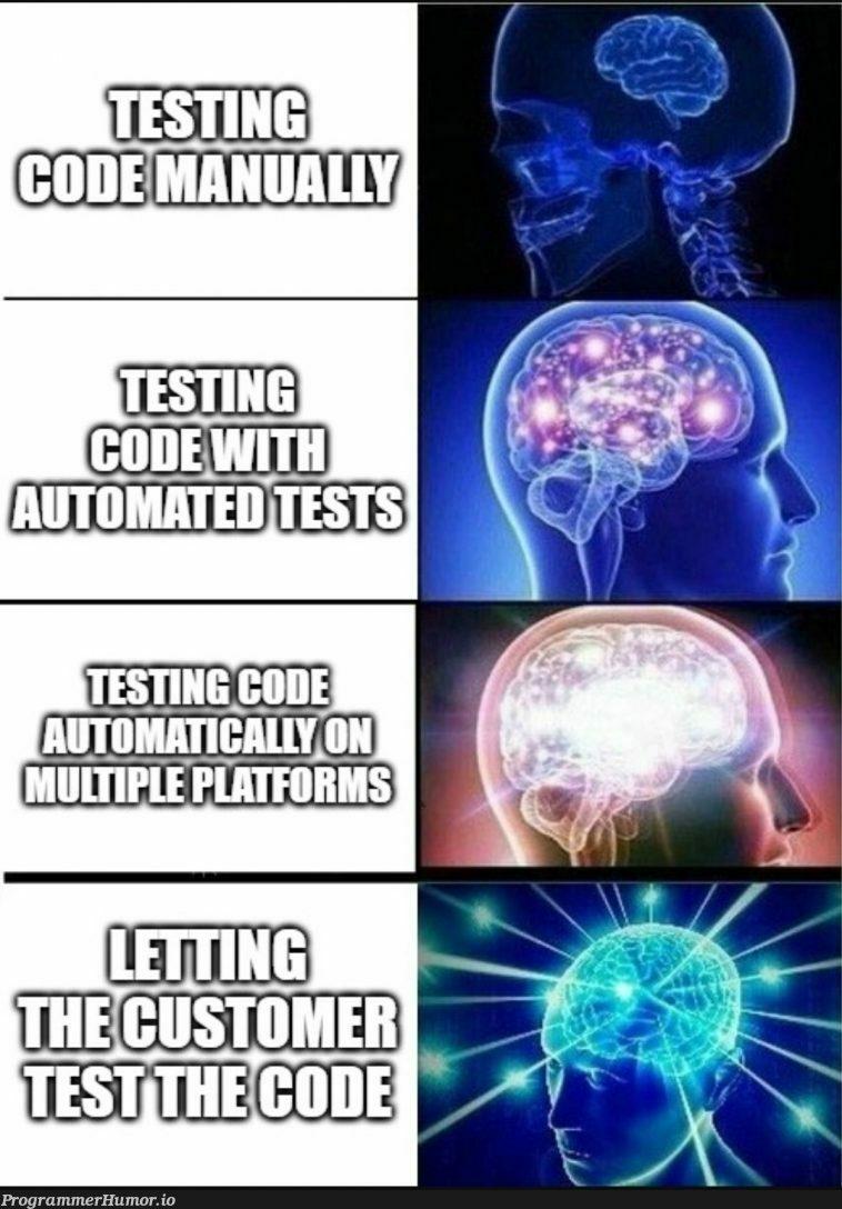 Effective testing begins with the customer   testing-memes, test-memes   ProgrammerHumor.io