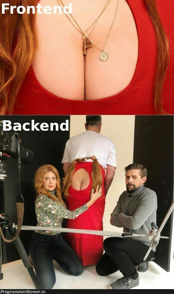 Backend vs Frontend   backend-memes, frontend-memes   ProgrammerHumor.io