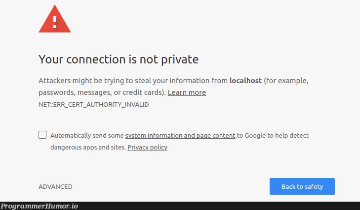 Damn, I better not proceed.   google-memes, try-memes, loc-memes, password-memes, rds-memes, private-memes   ProgrammerHumor.io