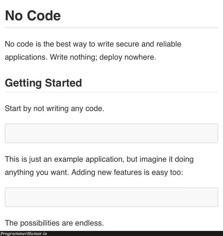 Github Project with no bugs   code-memes, bugs-memes, bug-memes, git-memes, github-memes, IT-memes, feature-memes   ProgrammerHumor.io