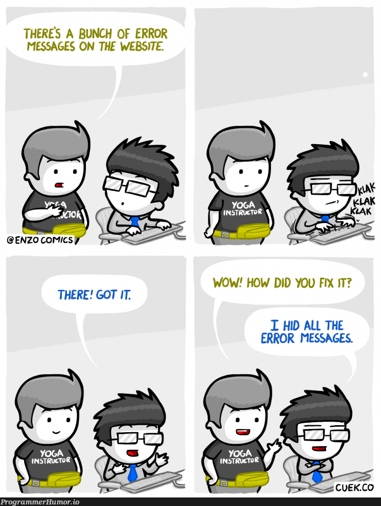 The solution to every error | web-memes, website-memes, error-memes, fix-memes | ProgrammerHumor.io