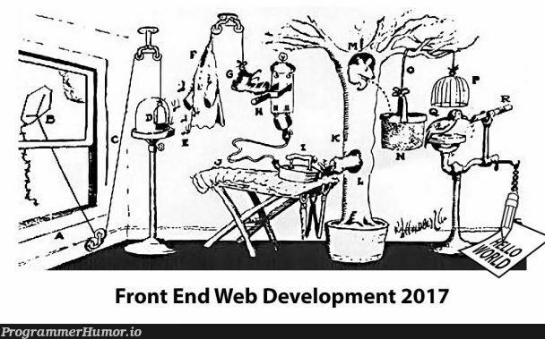 Front End Web Development in 2017   web development-memes, development-memes, web-memes, front end-memes   ProgrammerHumor.io