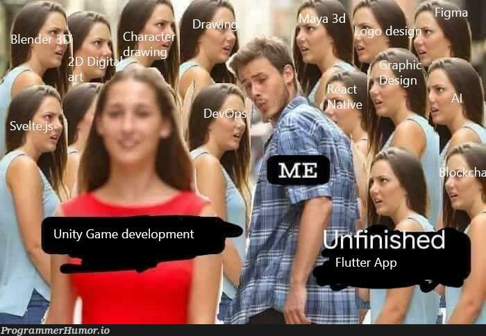 Me a frontend developer that likes a bit of everything.   developer-memes, frontend-memes   ProgrammerHumor.io