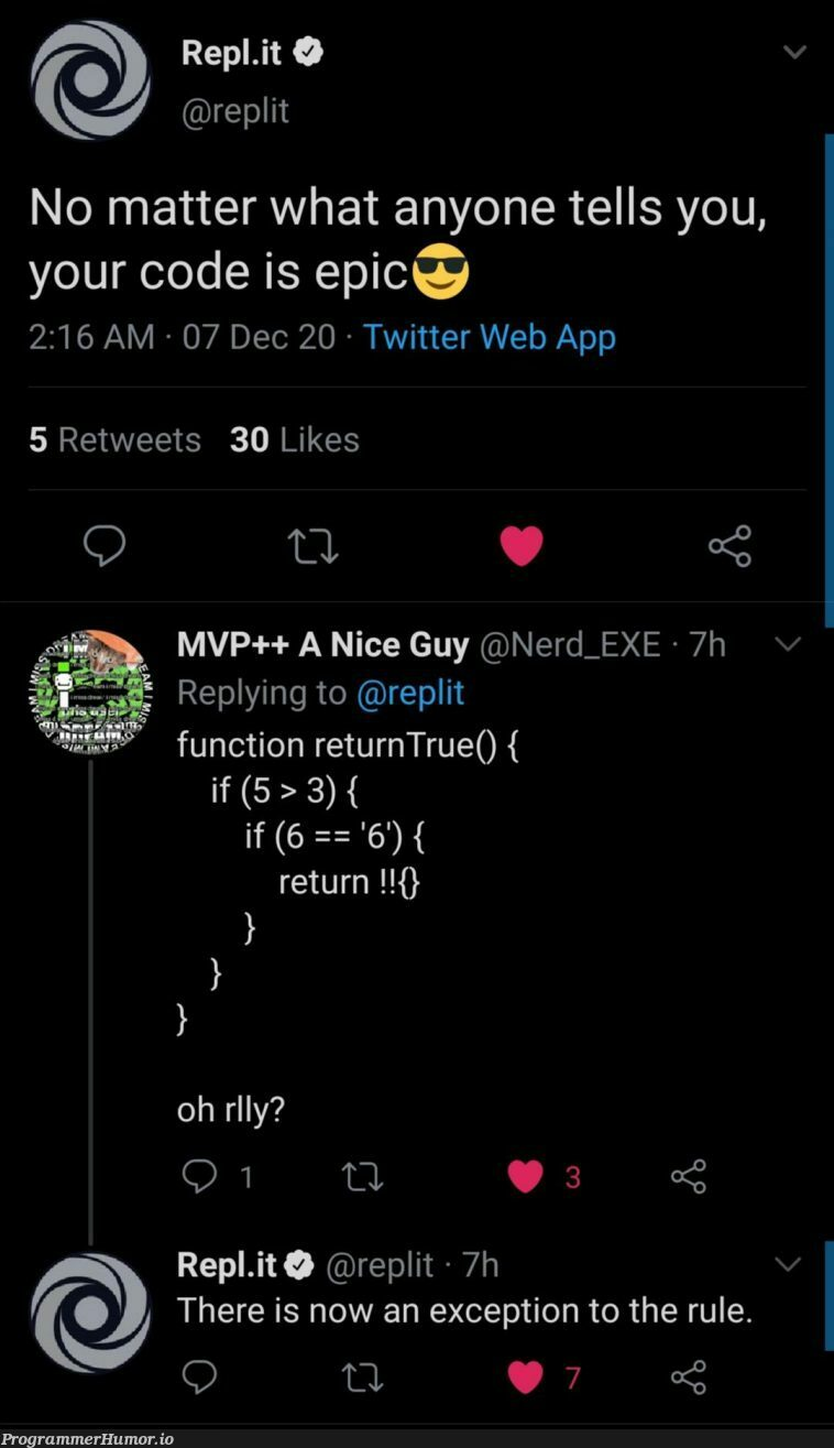there is now an exception   code-memes, web-memes, try-memes, function-memes, twitter-memes, retweet-memes, exception-memes   ProgrammerHumor.io