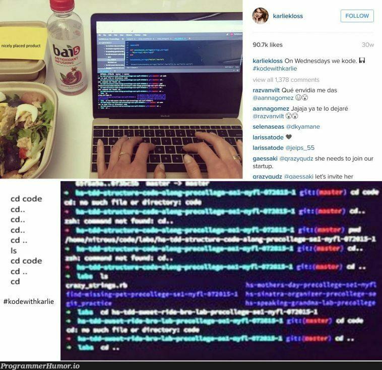 Coding with female models | coding-memes, jar-memes, ide-memes, startup-memes | ProgrammerHumor.io