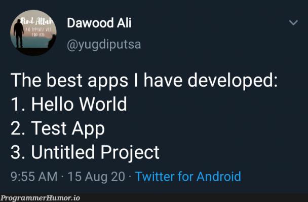 CV   android-memes, test-memes, twitter-memes   ProgrammerHumor.io