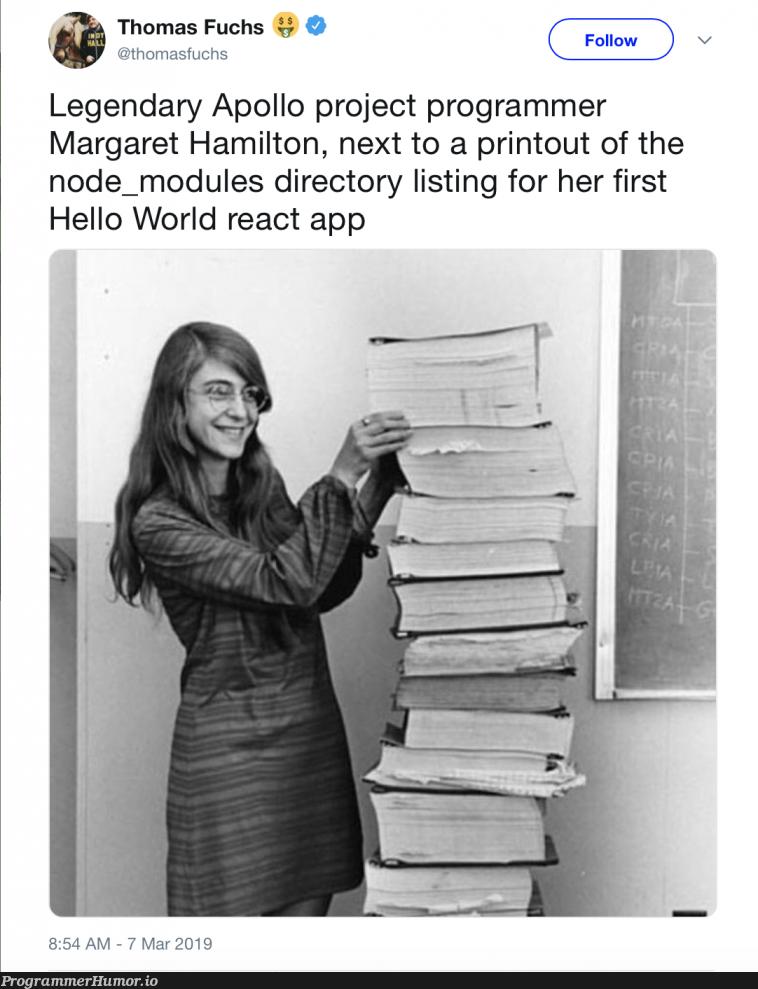 In honor of International Women's Day | programmer-memes, program-memes, react-memes, node-memes, list-memes, node_modules-memes | ProgrammerHumor.io