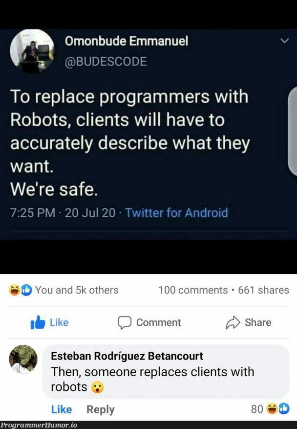 iRobot theme intensifies | programmer-memes, code-memes, program-memes, cli-memes, bot-memes, robots-memes, comment-memes | ProgrammerHumor.io
