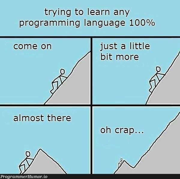 Learning any programming language | programming-memes, program-memes, try-memes, language-memes, programming language-memes | ProgrammerHumor.io