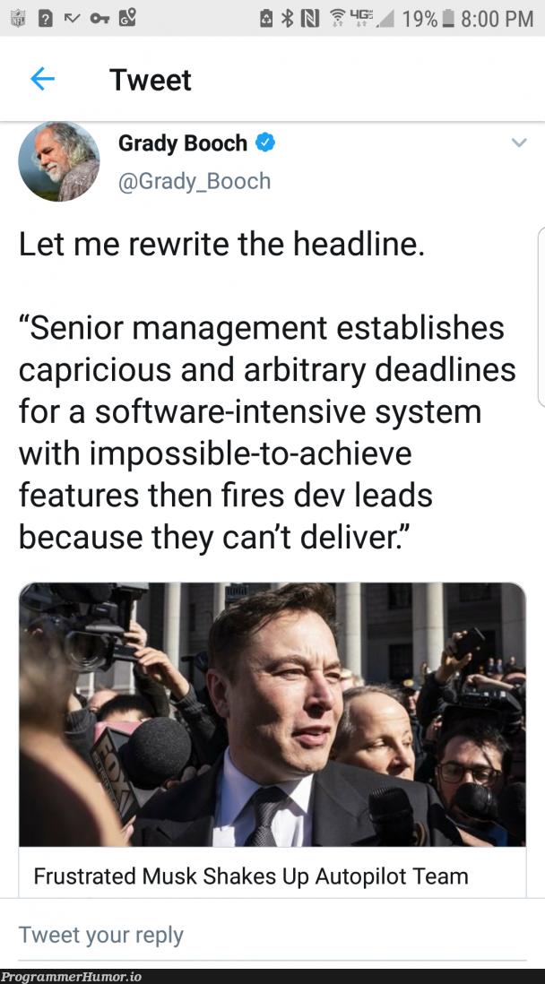 Sounds About Right   software-memes, management-memes, feature-memes   ProgrammerHumor.io