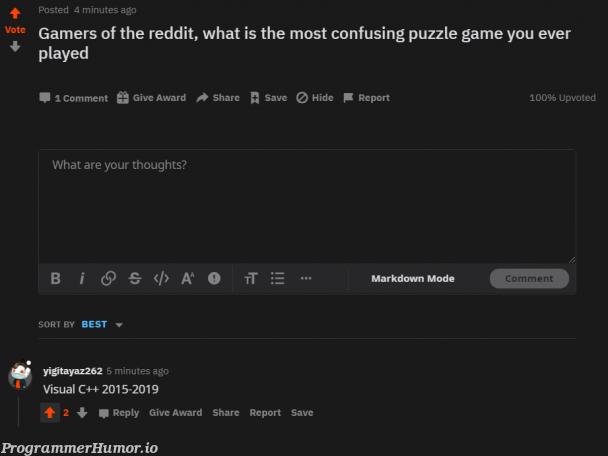 Most confusing game | reddit-memes, ide-memes | ProgrammerHumor.io