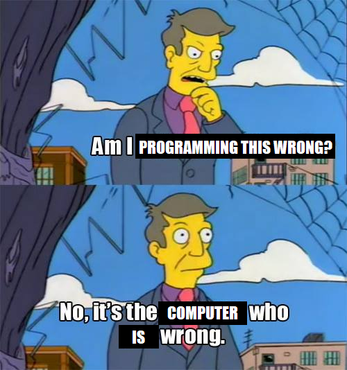 Another take on pointing blame   ProgrammerHumor.io