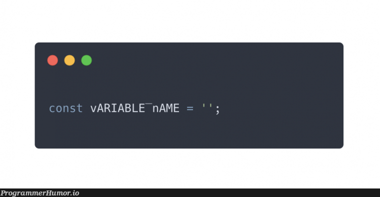 You can't seem to find a case style you like to use ? Introducing reverse-pascal-reverse-snake case.   variable name-memes   ProgrammerHumor.io