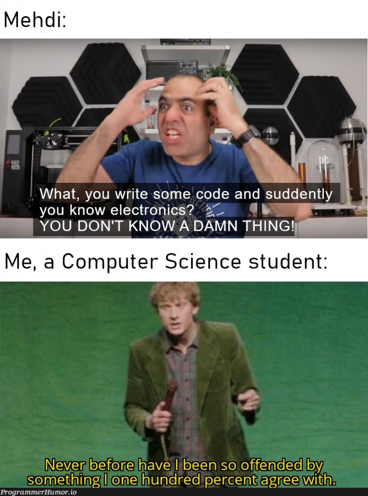 Originally on r/ElectroBOOM   code-memes, electron-memes, cs-memes   ProgrammerHumor.io