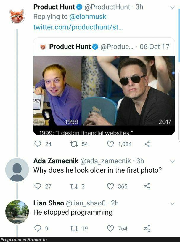 Aging is hard | programming-memes, program-memes, twitter-memes, product-memes | ProgrammerHumor.io