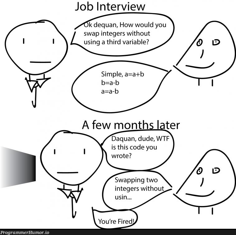 Job Interview | code-memes, interview-memes | ProgrammerHumor.io