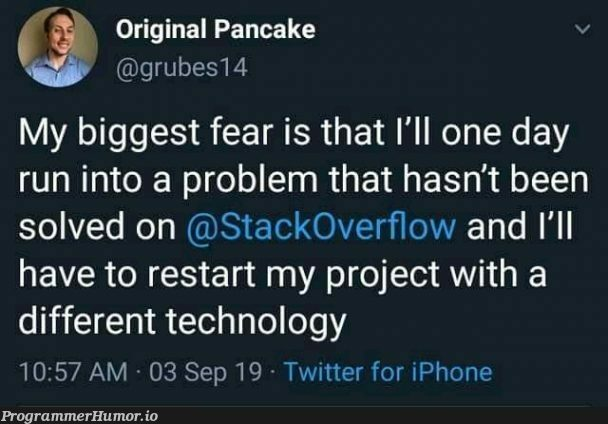 One of the worst nightmare | tech-memes, technology-memes, iphone-memes, stackoverflow-memes, stack-memes, rest-memes, overflow-memes, twitter-memes | ProgrammerHumor.io