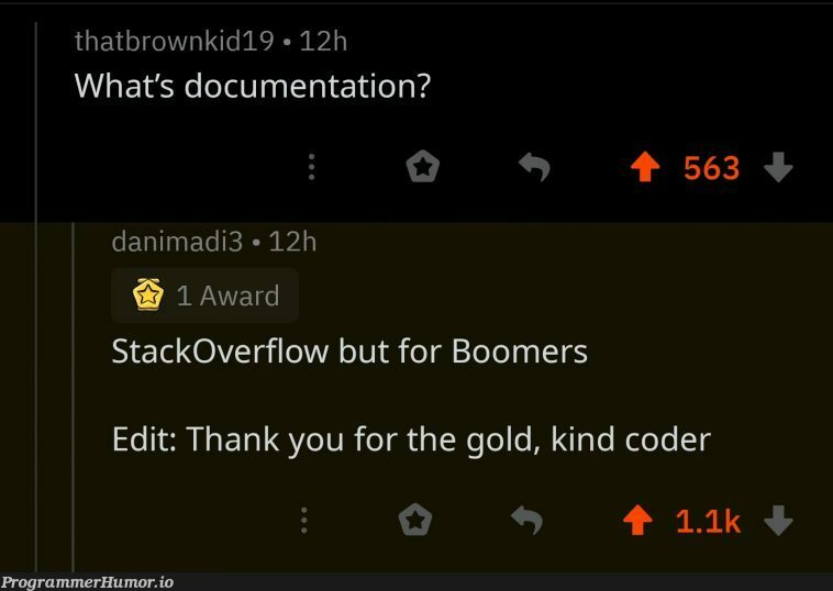 Couldnt have said it better | code-memes, coder-memes, stackoverflow-memes, stack-memes, overflow-memes, IT-memes, documentation-memes | ProgrammerHumor.io